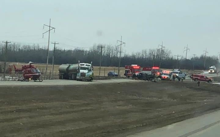 Emergency crews responded to a serious two-vehicle collision on Highway 43, between Grande Prairie and Valleyview, on Friday morning. April 5, 2019.