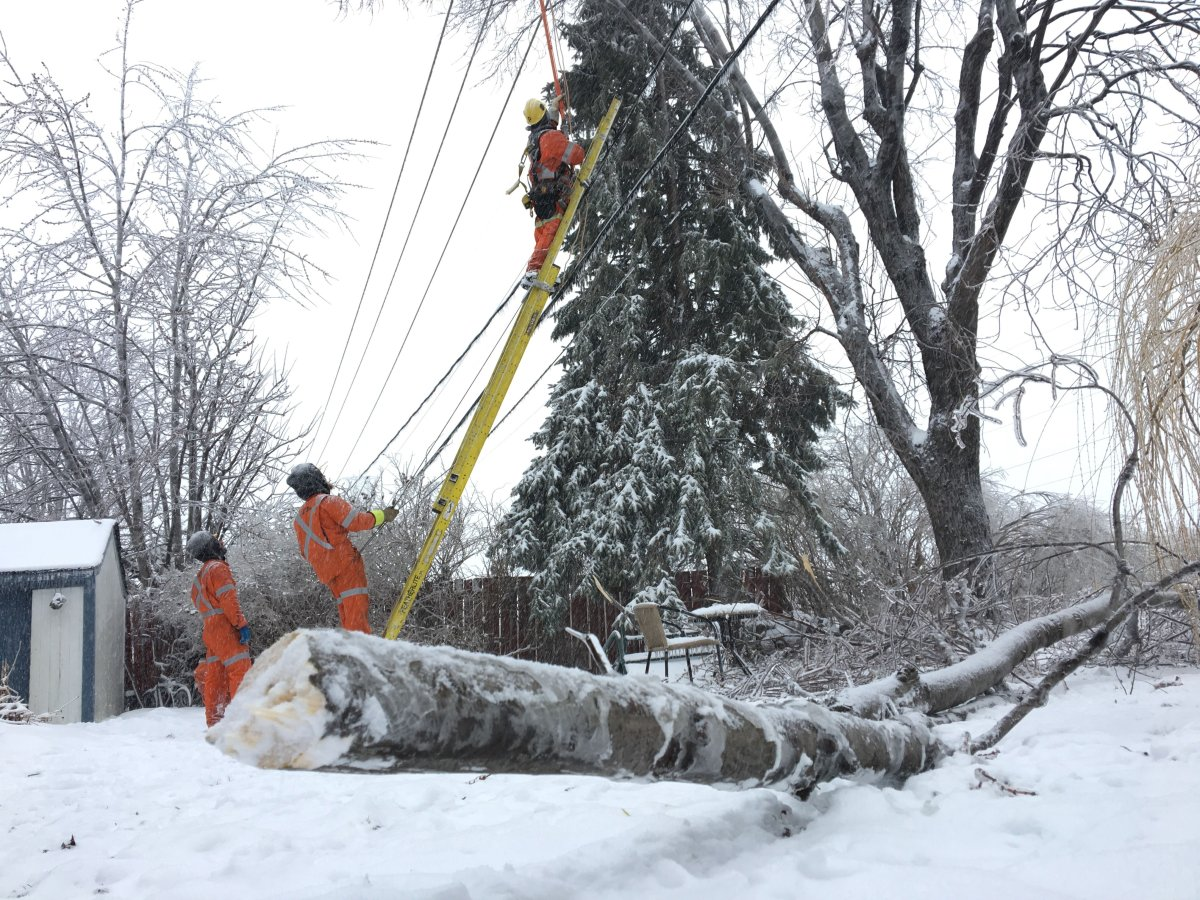 Freezing rain and strong winds are causing widespread power outages in Laval, the Laurentians and Lanaudière regions.