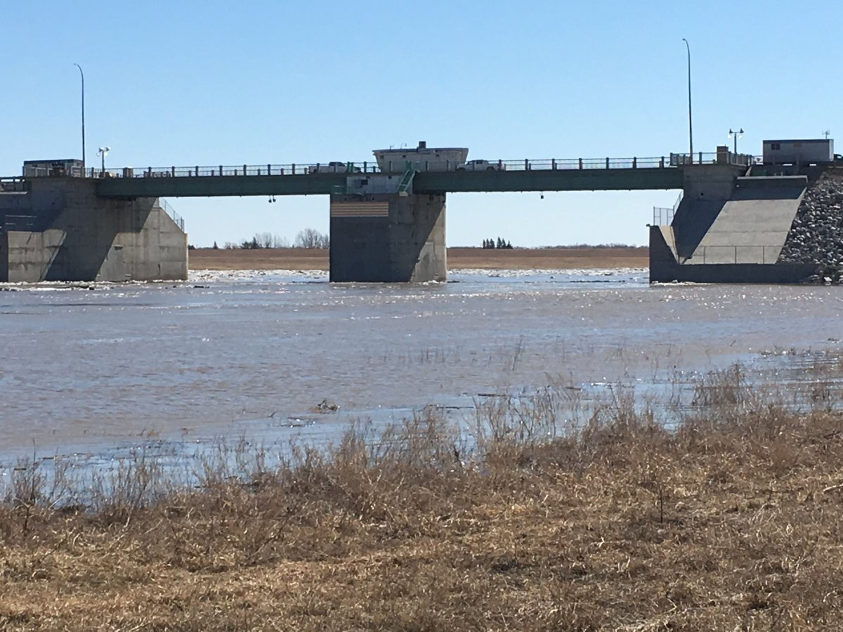The Red River floodway in a 2019 file photo.