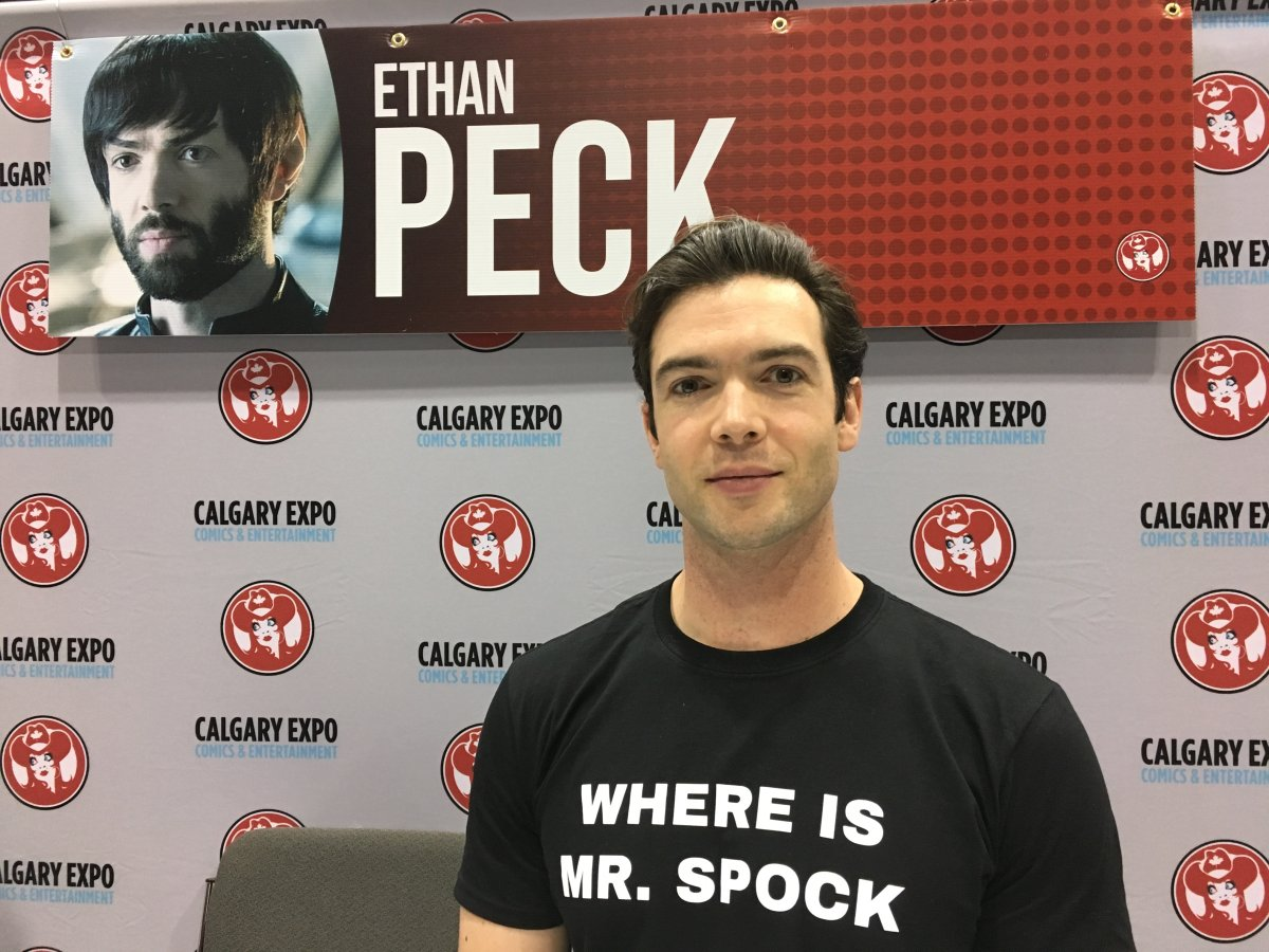 Star Trek: Discovery actor Ethan Peck at the Calgary Comic and Entertainment Expo.