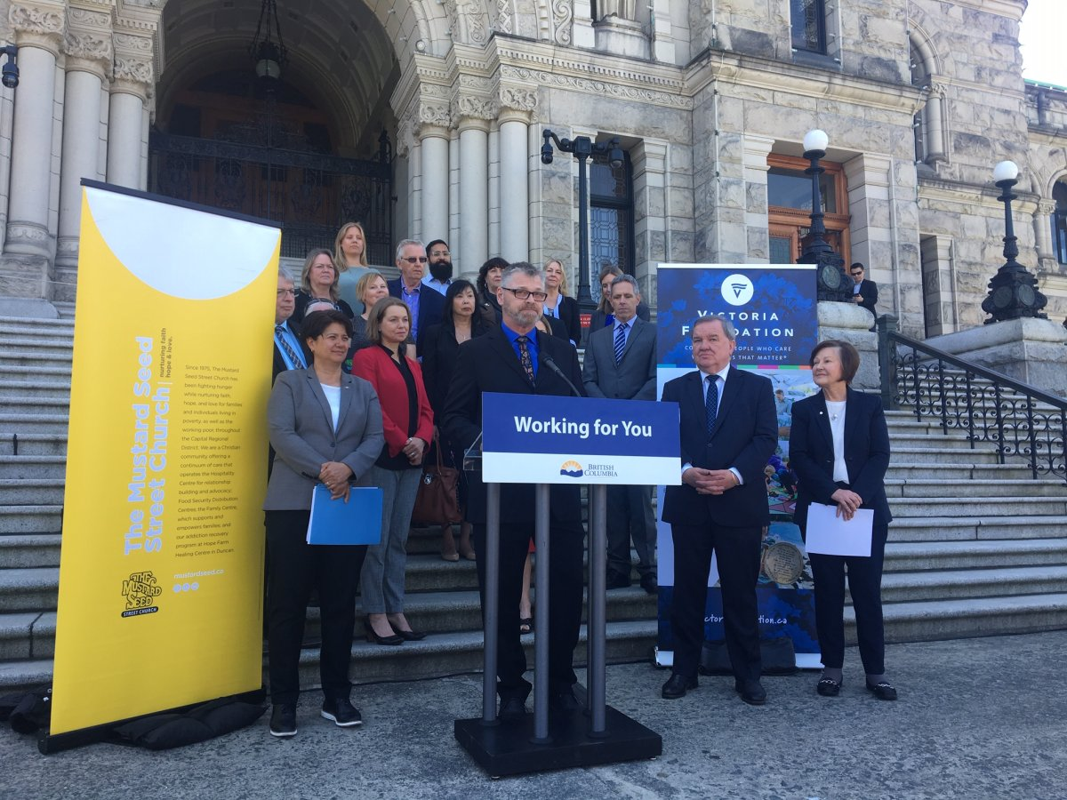 The B.C. Government has announced funding for providing healthy food for those in Victoria fighting  poverty.