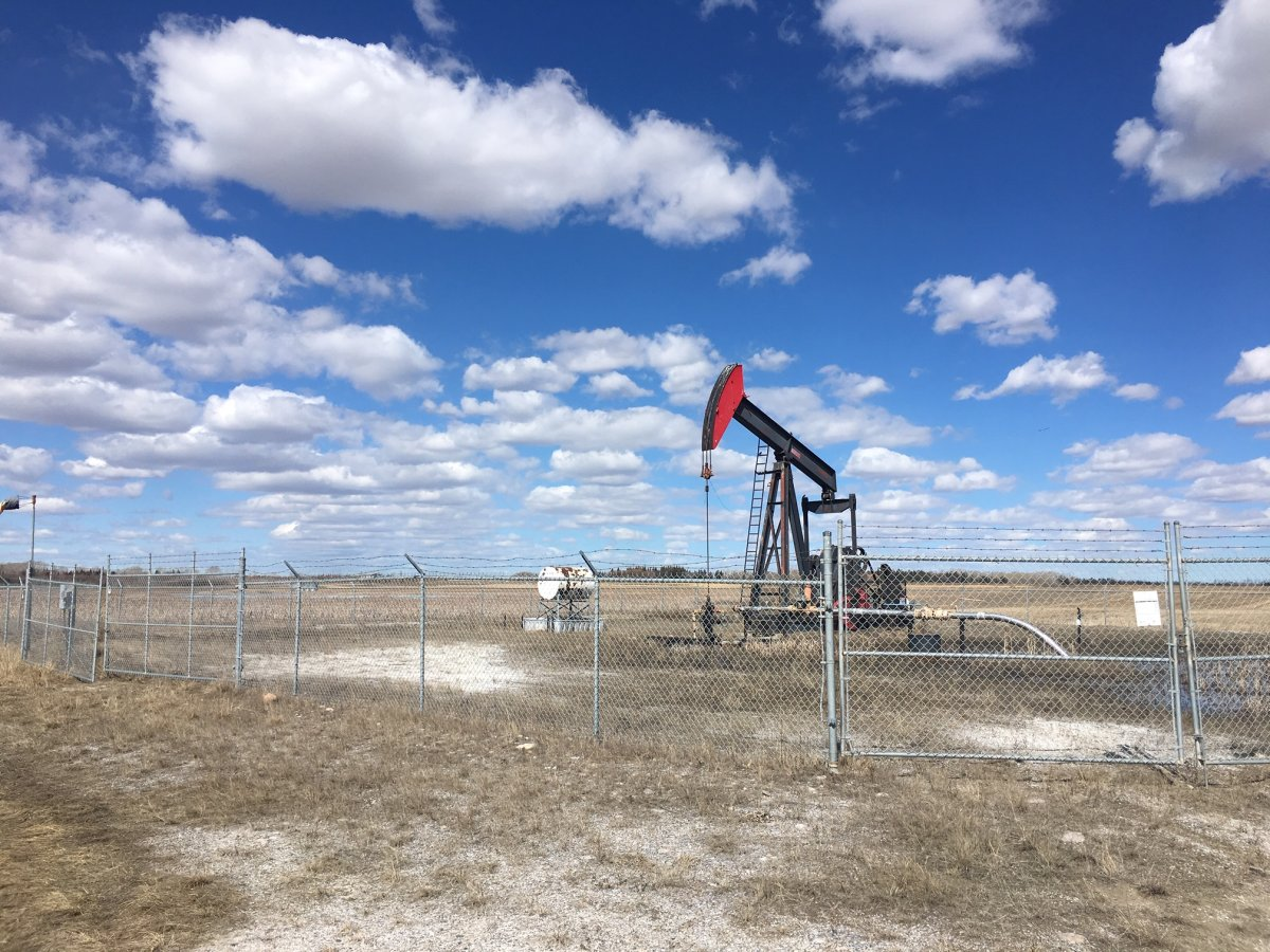 An orphaned oil just east of Calgary city limits.