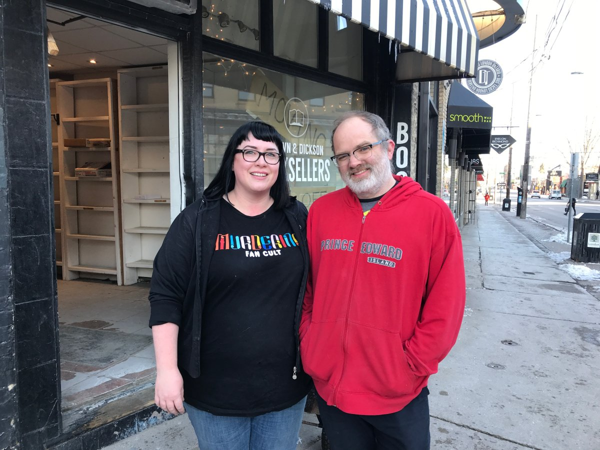 Vanessa Brown and Jason Dickson, owners of Brown and Dickson Antiquarian Bookstore, got help from their dedicated customers as they transported their books to a new store on Richmond Street.