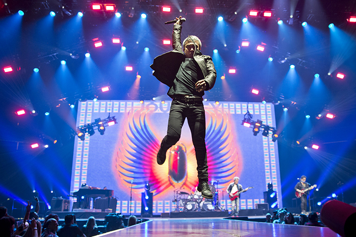 Arnel Pineda of the band Journey is seen at Prudential Center on June 15, 2018 in Newark, N.J.