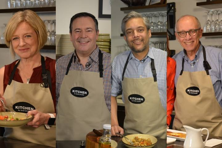 Alberta's political party leaders off-script and in the kitchen.