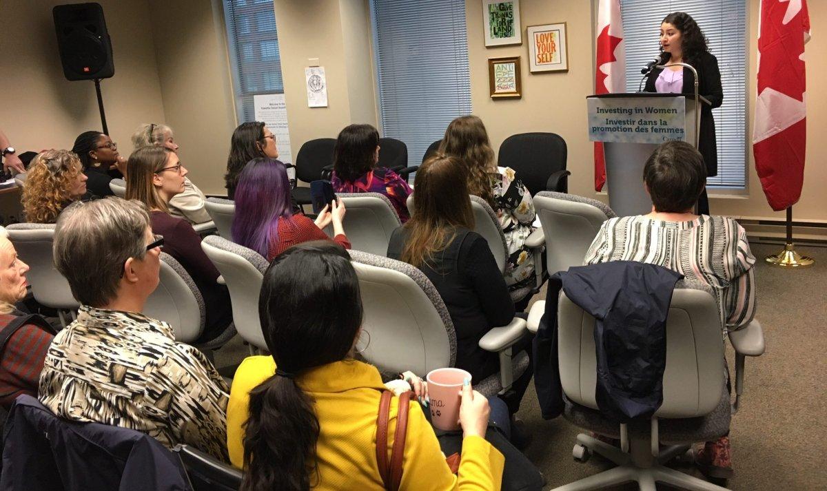 Maryam Monsef announces $1.6 million in funding for six women's organizations in Ontario.