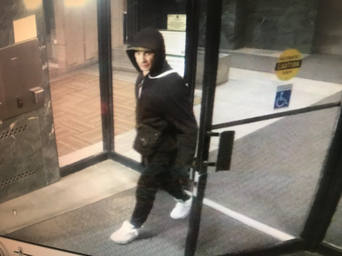 Police are looking for a suspect after break-ins at two apartment buildings in Oakville.