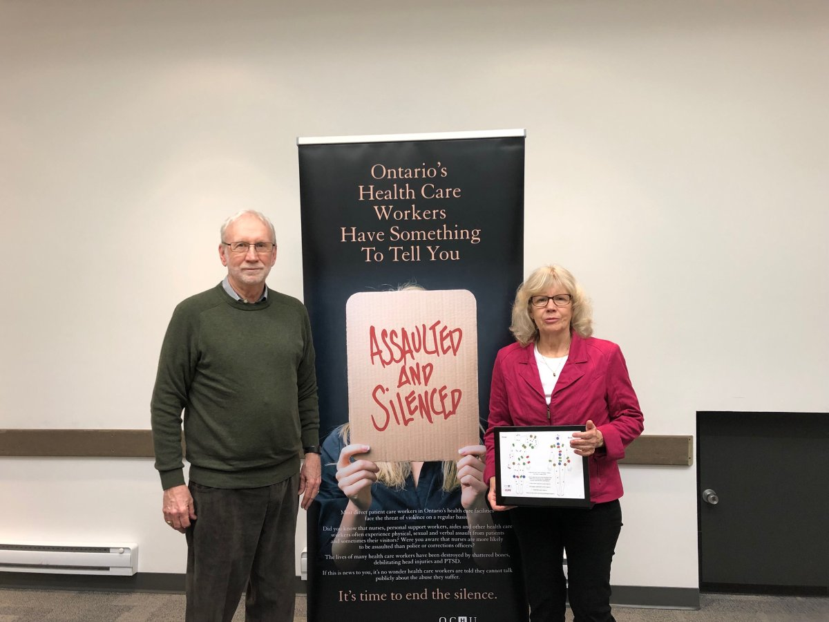 Dr. James Brophy (left) and Dr. Margaret Keith who co-authored an investigative study into workplace violence faced by long-term care staff in Ontario.