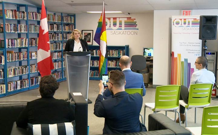 Over $1.1 million was announced by the Canadian government in support of two OUTSaskatoon projects.