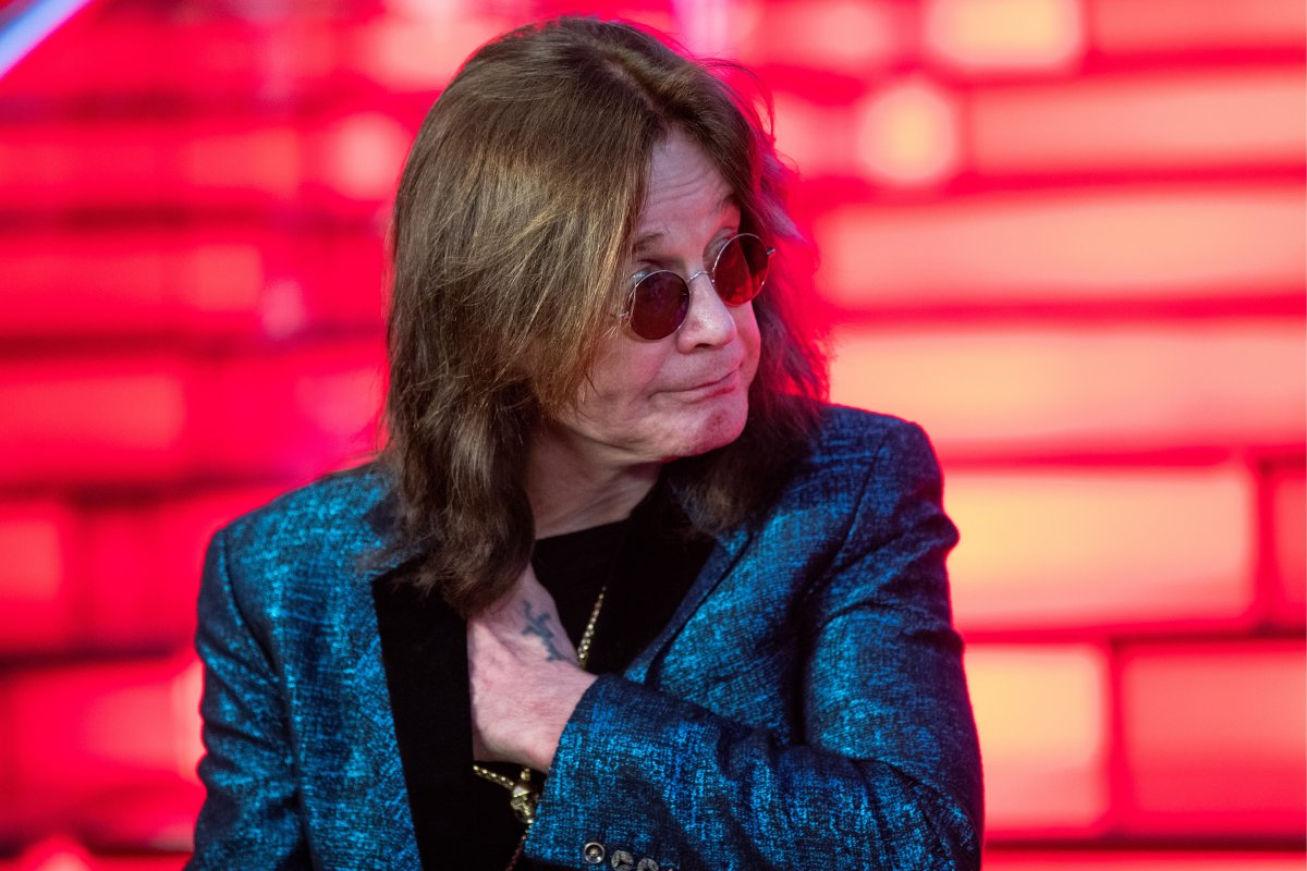 Ozzy Osbourne in the town of Krasnogorsk, Russia.