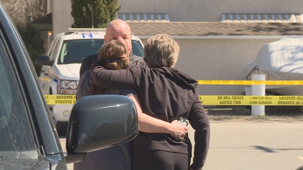 Tears at the scene of a fatal shooting in Penticton on Monday.