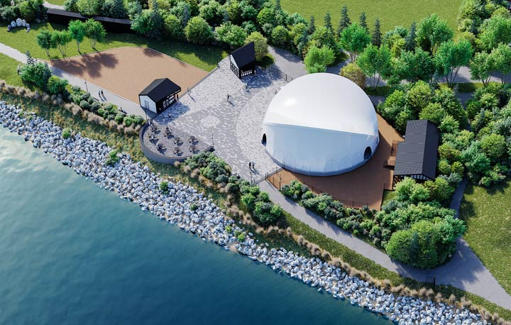 Shakespeare on the Saskatchewan reveals a new rendering for its redeveloped site along Saskatoon's riverbank.