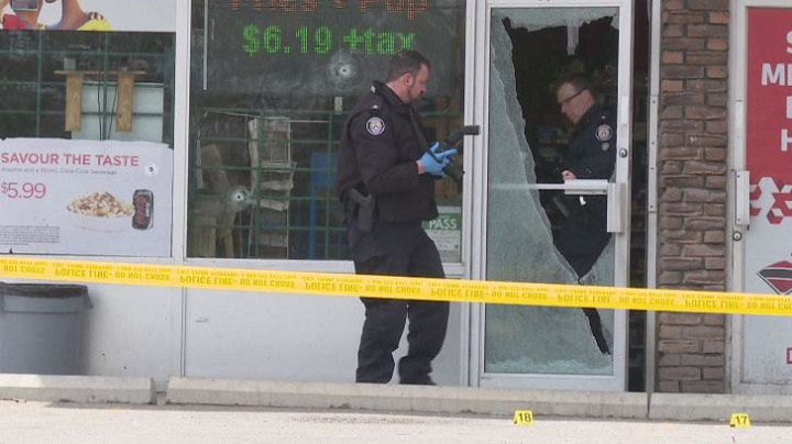 Toronto police on scene investigating a shootout in the city's north end Tuesday morning.