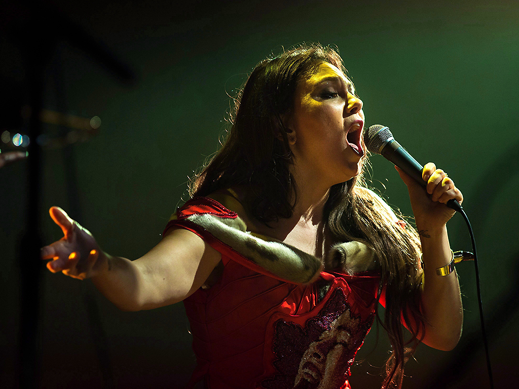 Tanya Tagaq performs during the Polaris Music Prize gala in Toronto on September 18, 2017.