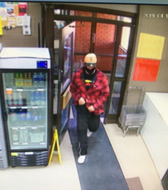 Stony Plain RCMP are searching for a suspect after a liquor store robbery in Wabamun, Alta., Wednesday, April 17, 2019.