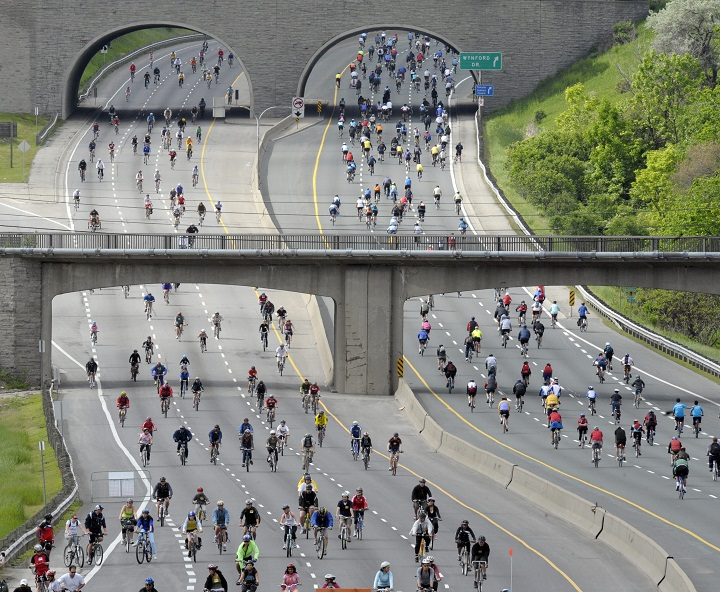The Gardiner Expressway and DVP will be closed Sunday for the 32nd annual Ride for Heart event,.