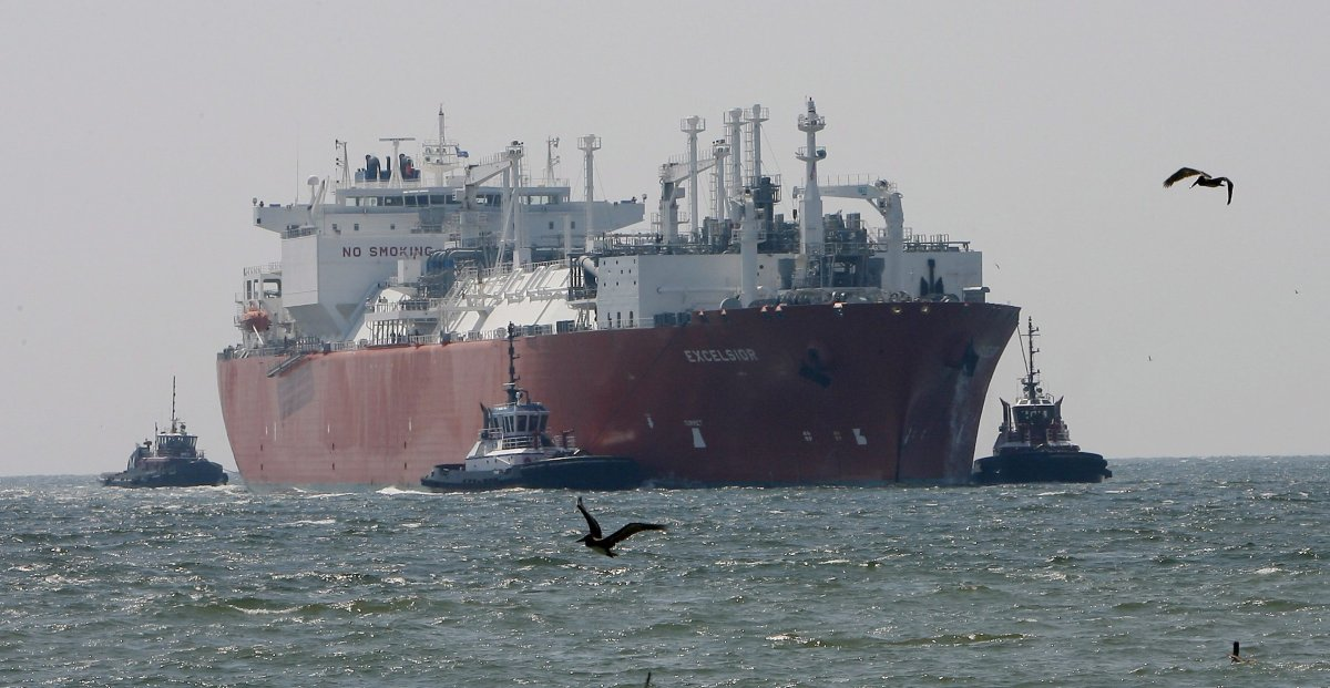 In this April 15, 2008 file photo, the Excelsior arrives at the Freeport LNG (Liquid Natural Gas) terminal in Houston.