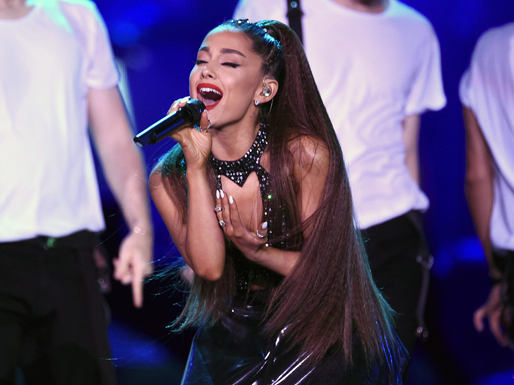 Ariana Grande performs at Wango Tango in Los Angeles, Calif.