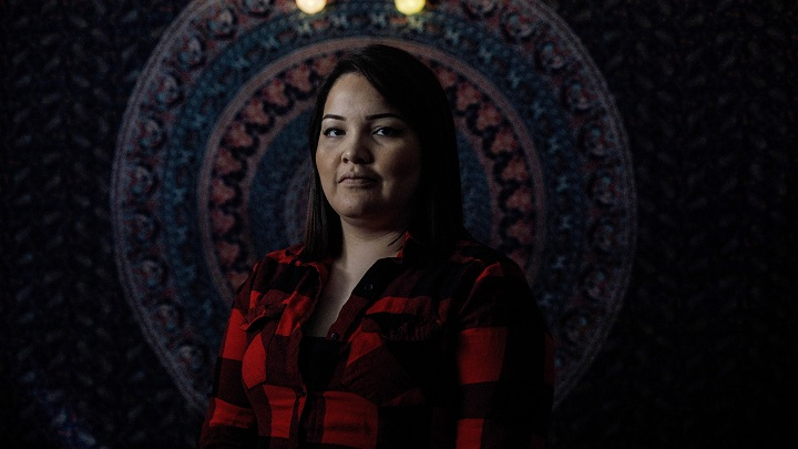 Former meth addict Cybil Cappo pictured in Edmonton, Alta., on May 10, 2019. Cappo says nobody seems to have the answers needed to begin to solve Saskatchewan's growing meth problem.