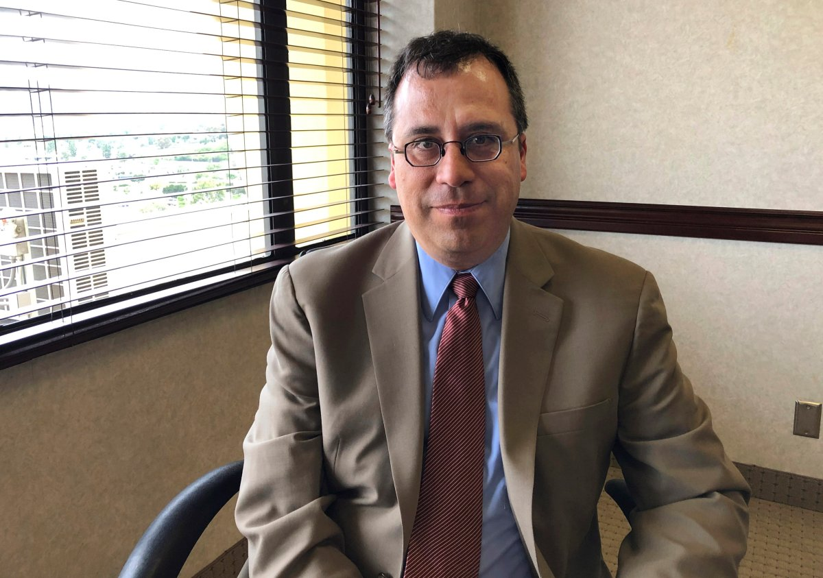 In this May 8, 2019, file photo, Lee Francis Cissna, director of U.S. Citizenship and Immigration Services, sits for a photo in Laguna Niguel, Calif. President Donald Trump has asked Cisna to resign, leaving yet another vacancy within the Department of Homeland Security. Cissna told staff on Friday, May 24, that his last day would be June 1.