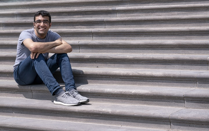 Student Georges Awaad is seen on the McGill University campus in Montreal on Wednesday, May 22, 2019.