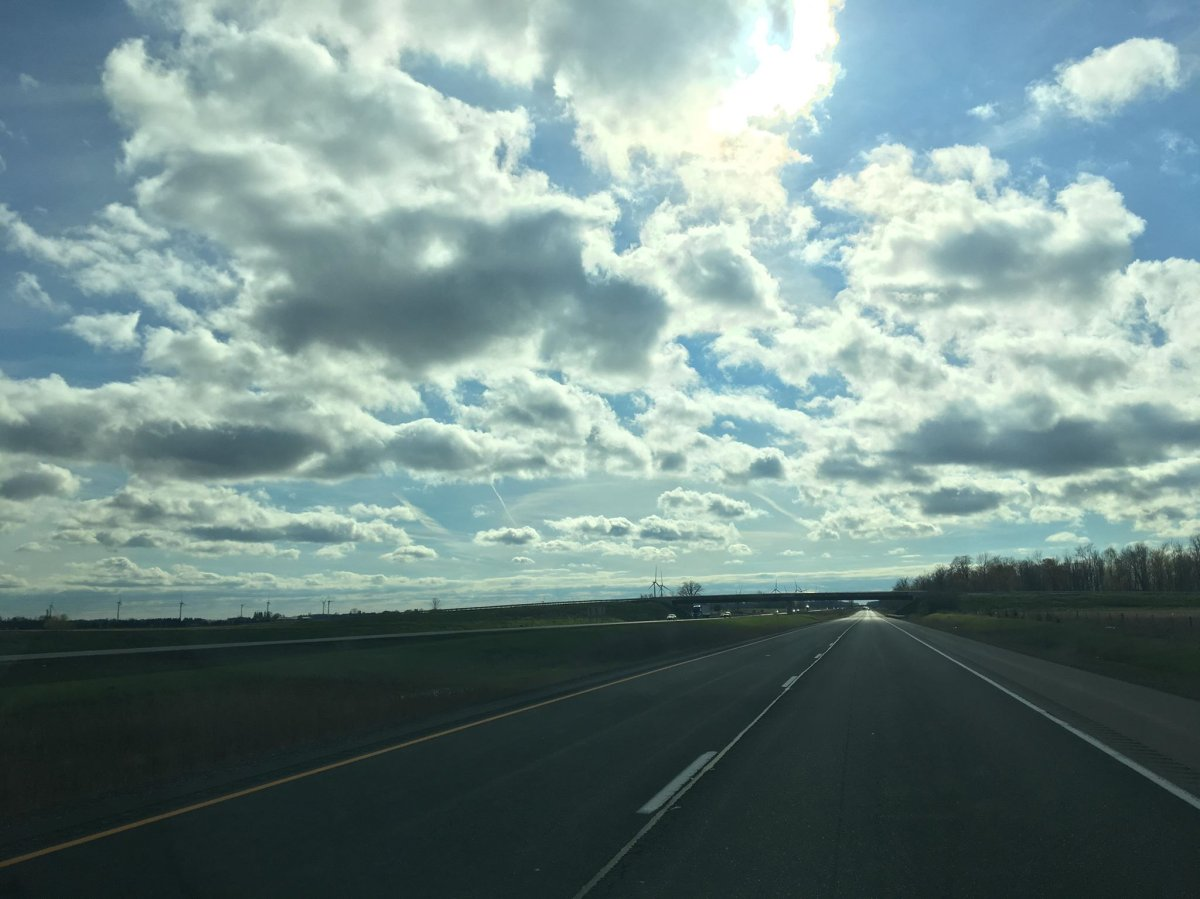 A stretch of Highway 402, just outside of London, Ont.