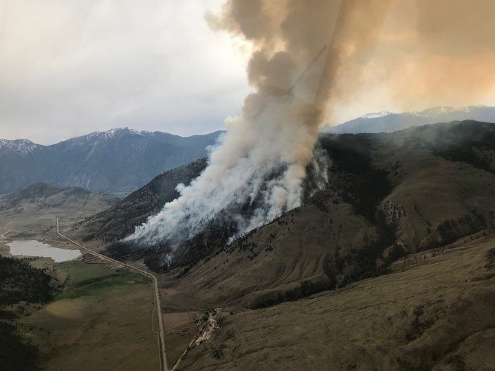 The B.C. Wildfire Service conducted a planned burn on the Richter Creek wildfire west of Osoyoos in May.