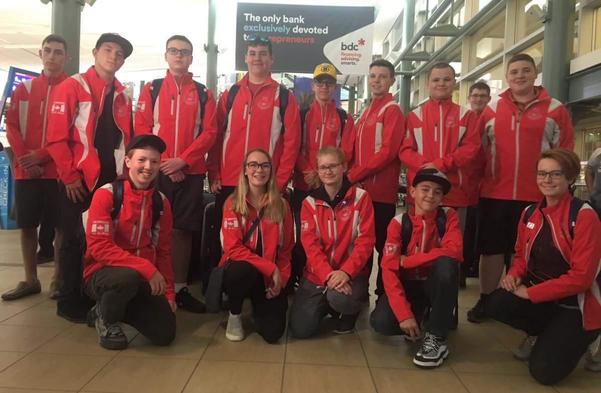 The 14 Canadian cadets who will be participating in the 75th anniversary ceremony for D-Day, which is being held in Normandy, France on June 6.