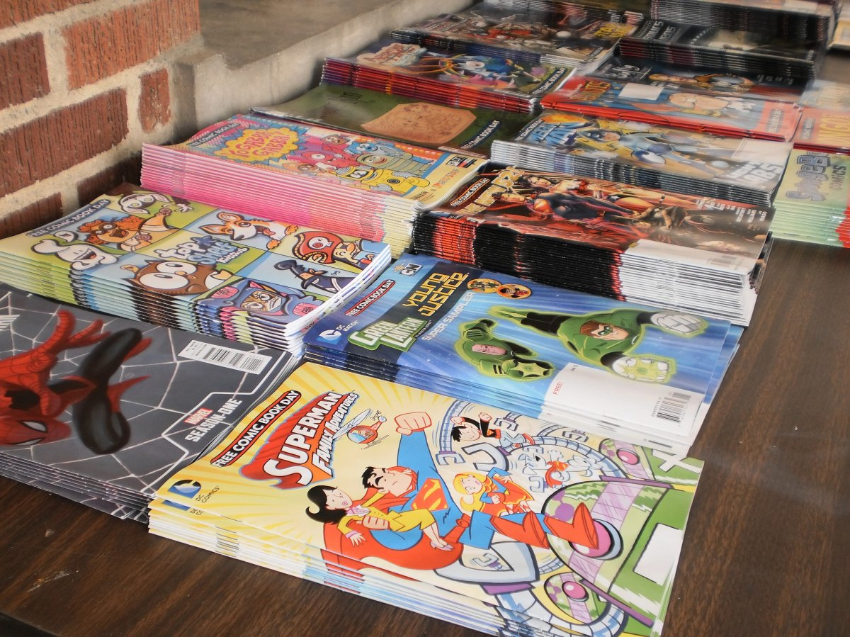 Free Comic Book Day takes place on the first Saturday of every May at comic shops around the world.