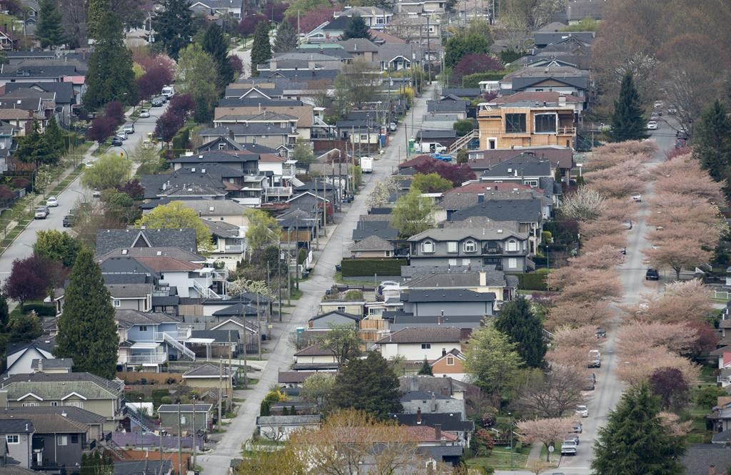 Homes are pictured in Vancouver, Tuesday, Apr 16, 2019. THE CANADIAN PRESS/Jonathan Hayward.