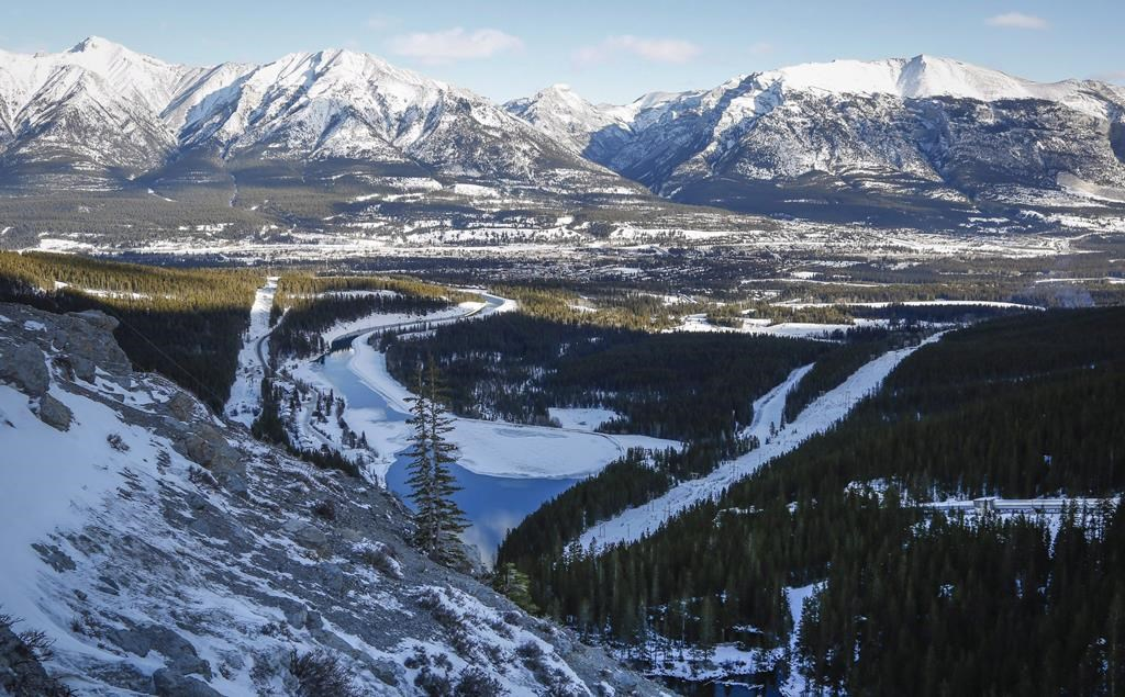 The mountain town of Canmore, Alta. is seen on Tuesday, Jan. 19, 2016.