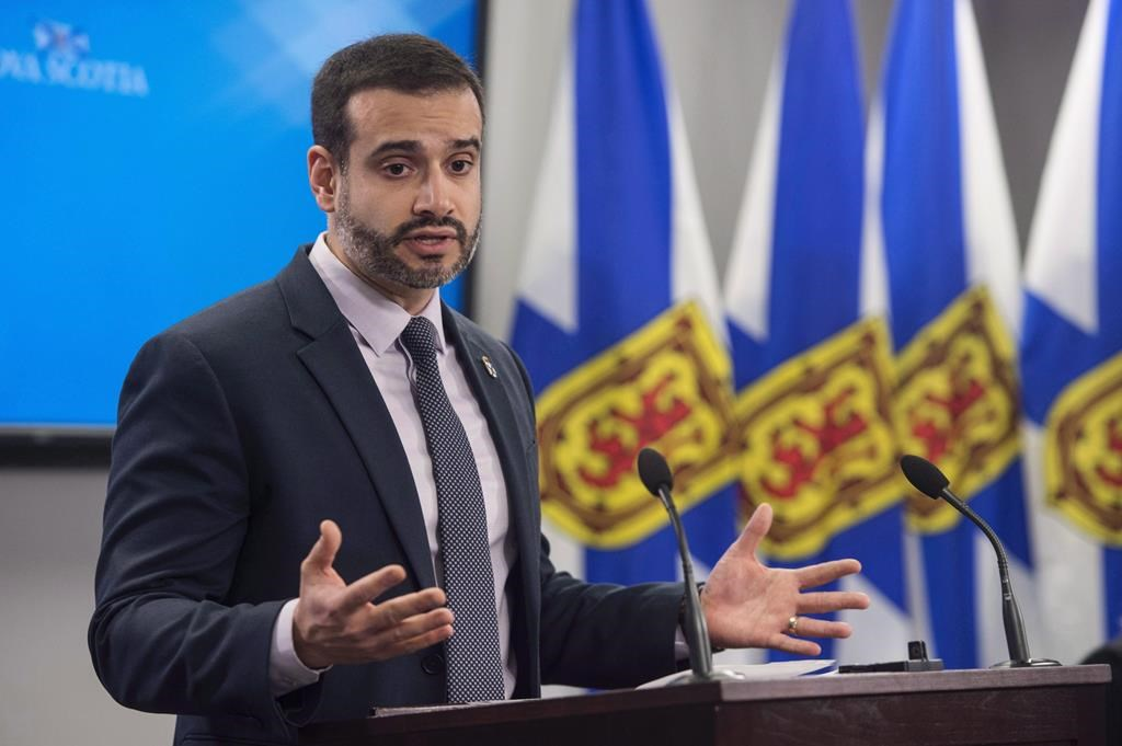 Nova Scotia Education Minister Zach Churchill speaks during a press conference in Halifax on Wednesday, January 24, 2018.
