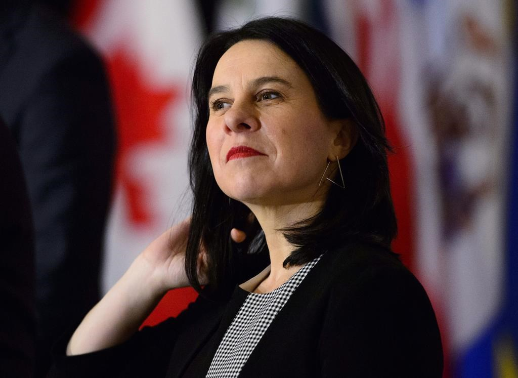Montreal Mayor Valerie Plante attends the Federation of Canadian Municipalities' Big City Mayors' Caucus, in Ottawa on Monday, Jan. 28, 2019.