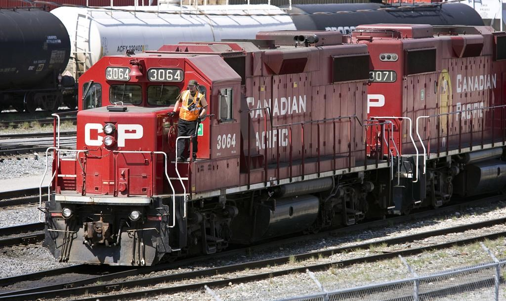 Canadian Pacific Railway locomotives are shuffled around a marshalling yard in Calgary on May 16, 2012.