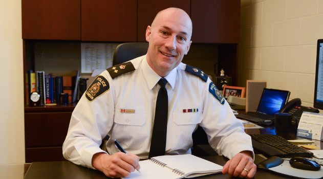 Daryl Longworth, a near 30-year police veteran, was named Woodstock's new police chief.