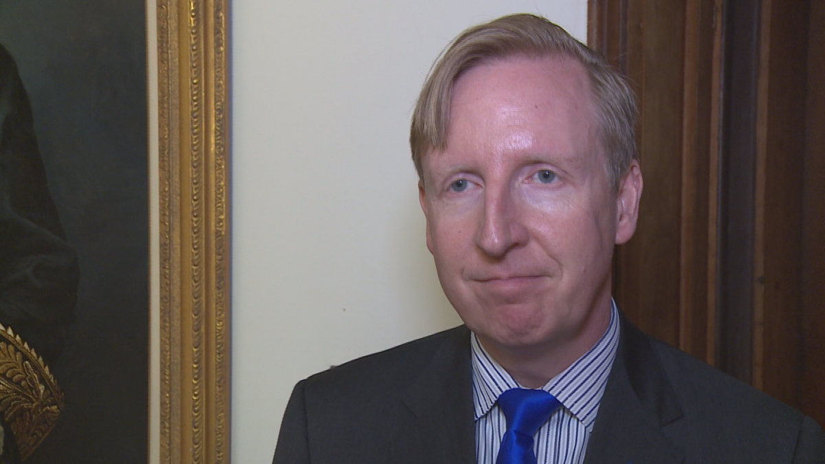 Dominic Cardy, the province's education minister, speaks with Global News on May 17, 2019.