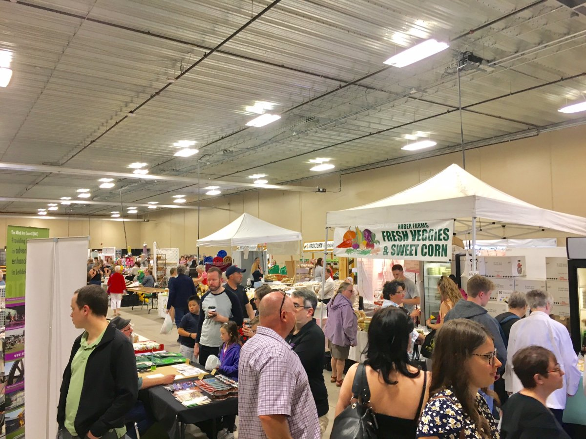 The largest farmers market in southern Alberta is back for another season.
