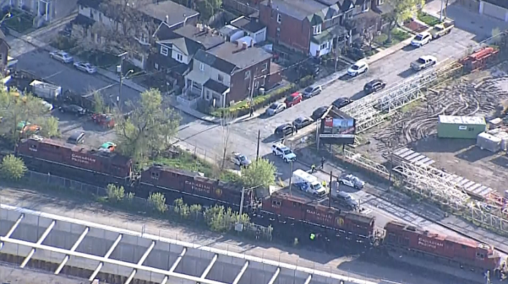 A woman was fatally struck after being hit by a freight train at Old Weston Road and Davenport Road Thursday morning.