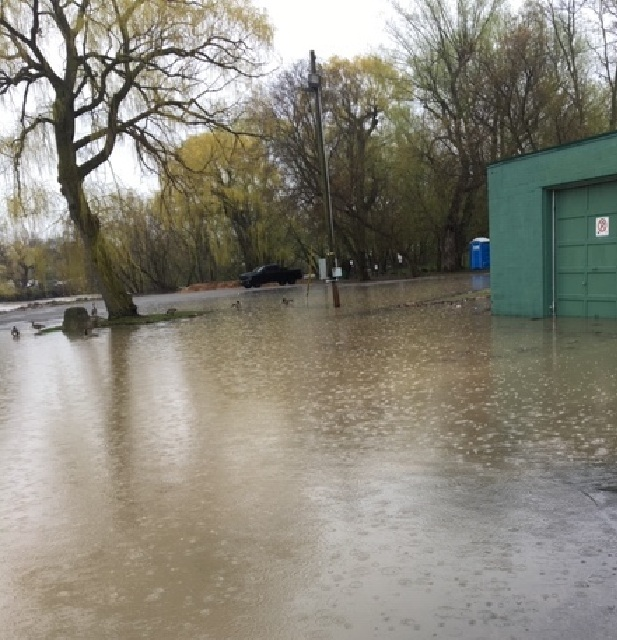 The storage facility used by Grimsby's volunteer search and rescue team has flooded for the third time in as many years..