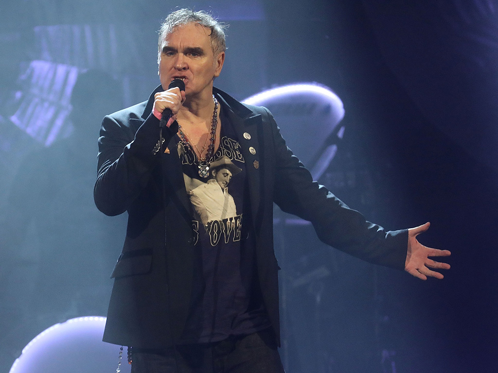 Morrissey performs during his Broadway debut at Lunt-Fontanne Theater on May 2, 2019 in New York City.