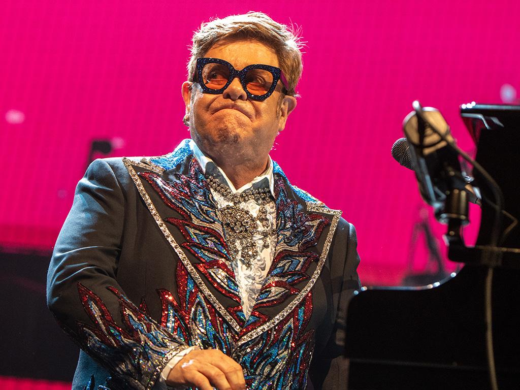 Sir Elton John performs during his Farewell Yellow Brick Road tour at Scandinavium Arena on May 19, 2019 in Gothenburg, Sweden.