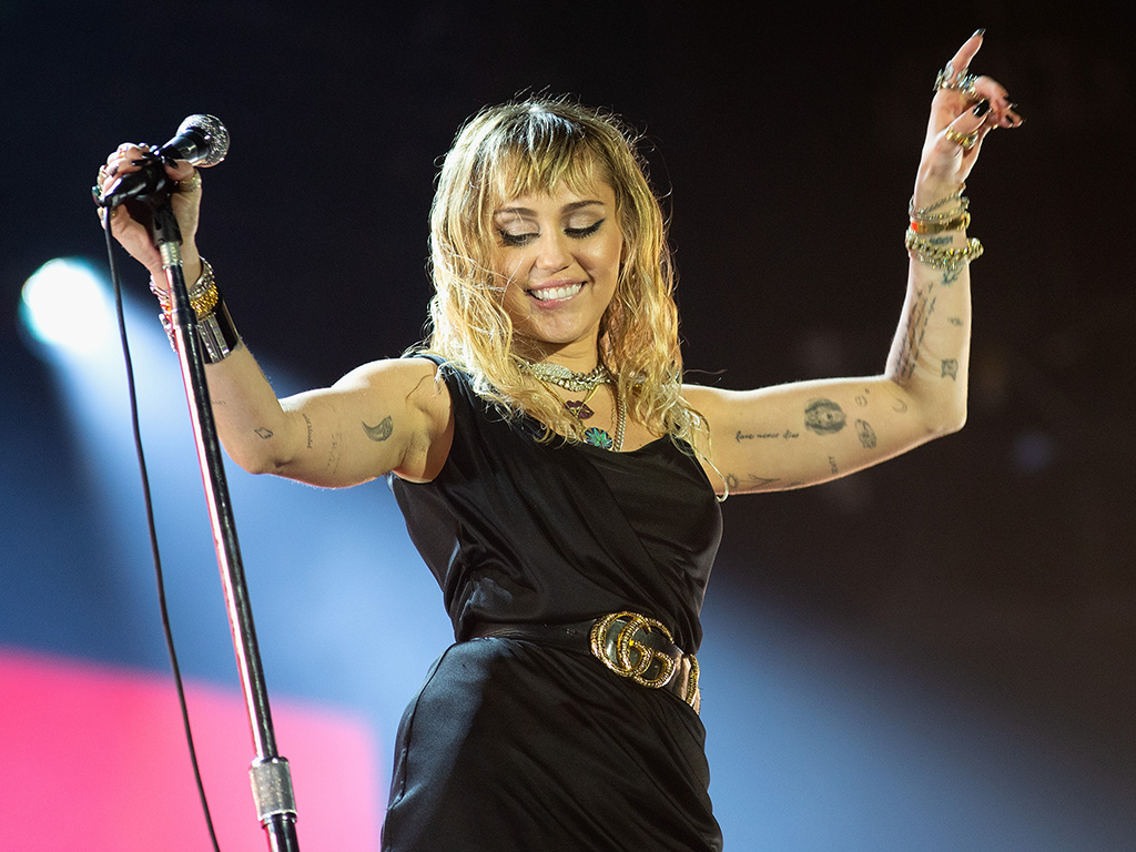 Miley Cyrus performs at the Radio 1 Big Weekend at Stewart Park on May 25, 2019, in Middlesbrough, England.