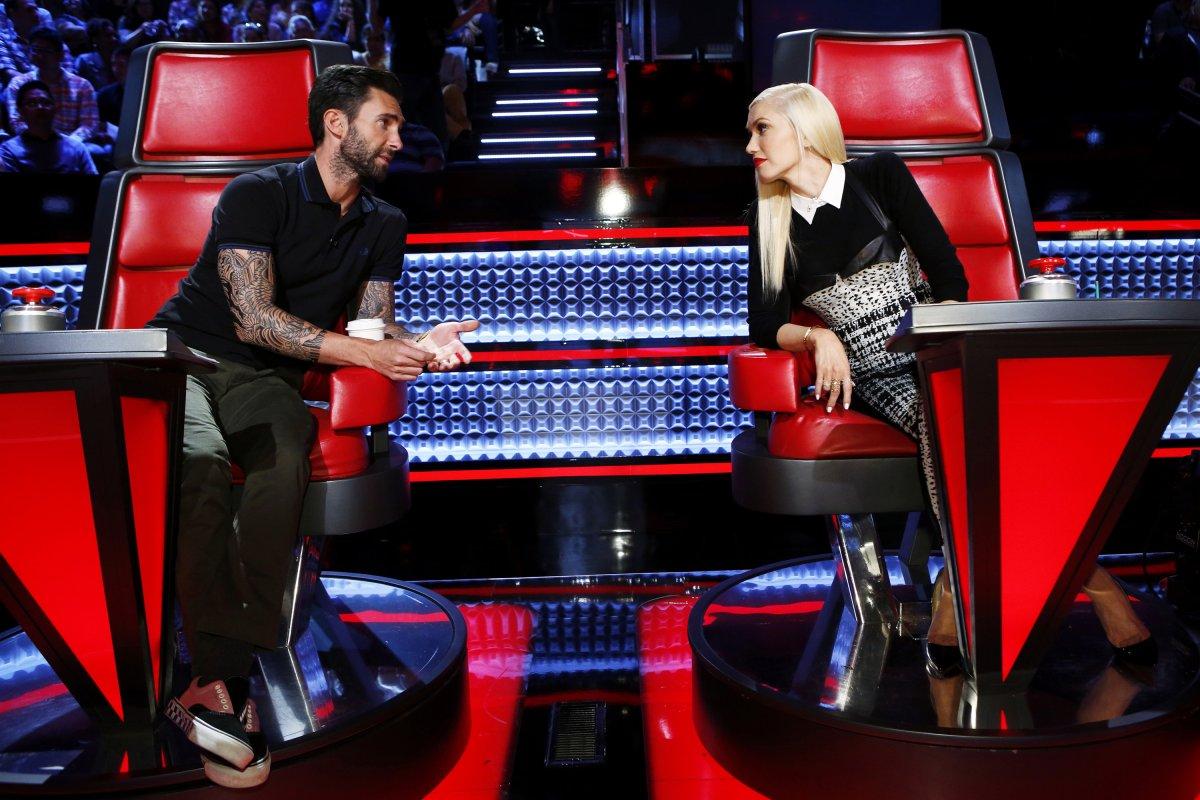 Pictured: (l-r) Adam Levine, Gwen Stefani.