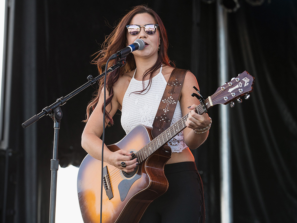Rae Solomon performs on stage during the Hometown Throwdown country music festival hosted by 100.7 The Wolf at Enumclaw Expo Center on Sept. 18, 2016 in Enumclaw, Wash.