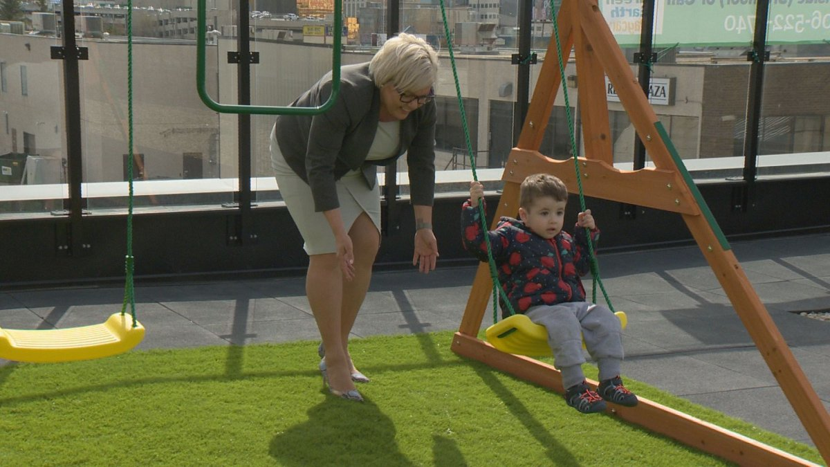 Saskatchewan minister Tina Beaudry-Mellor helped celebrate the grand opening of Souls Habour's Green Earth Daycare on Monday.