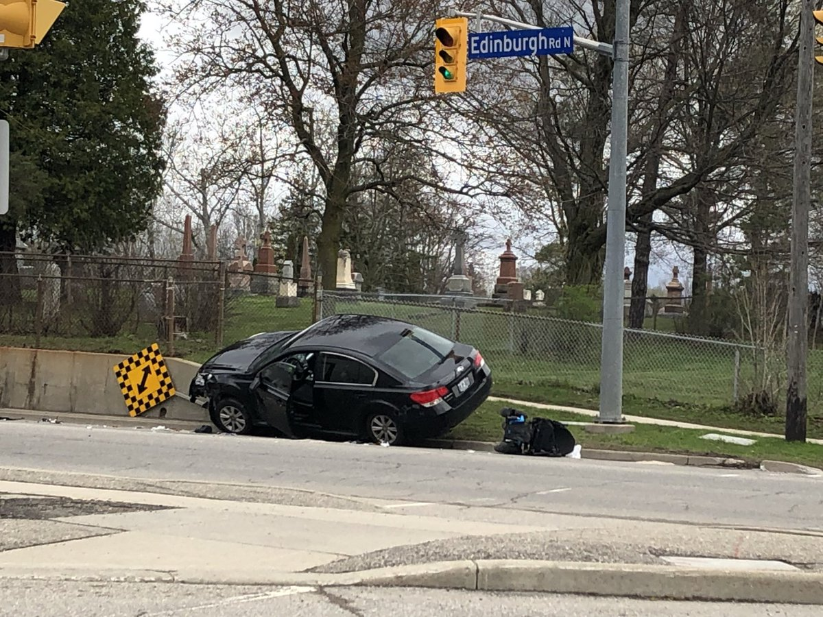 Guelph police are investigating a crash involving a motorized wheelchair.