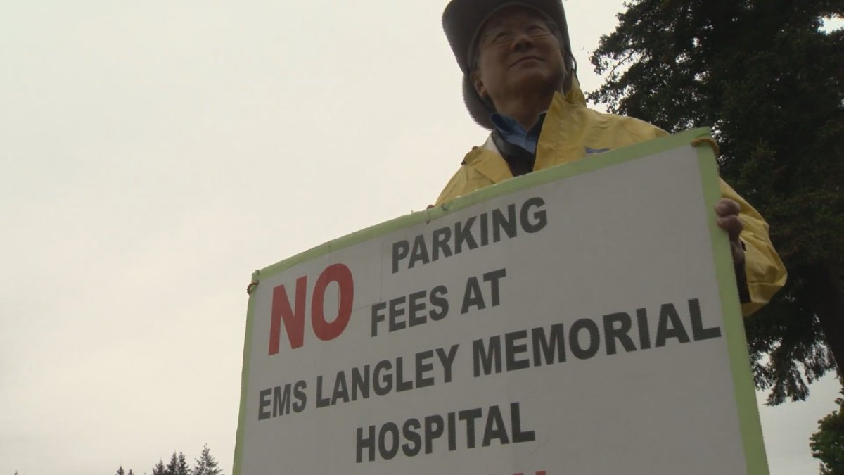 Gary Hee is campaigning for free parking at Langley Memorial Hospital.