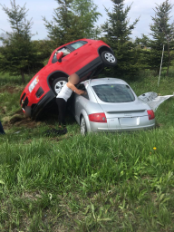 Continue reading: 3 people sustain minor injuries, woman charged after stolen Audi involved in crash west of Lambeth