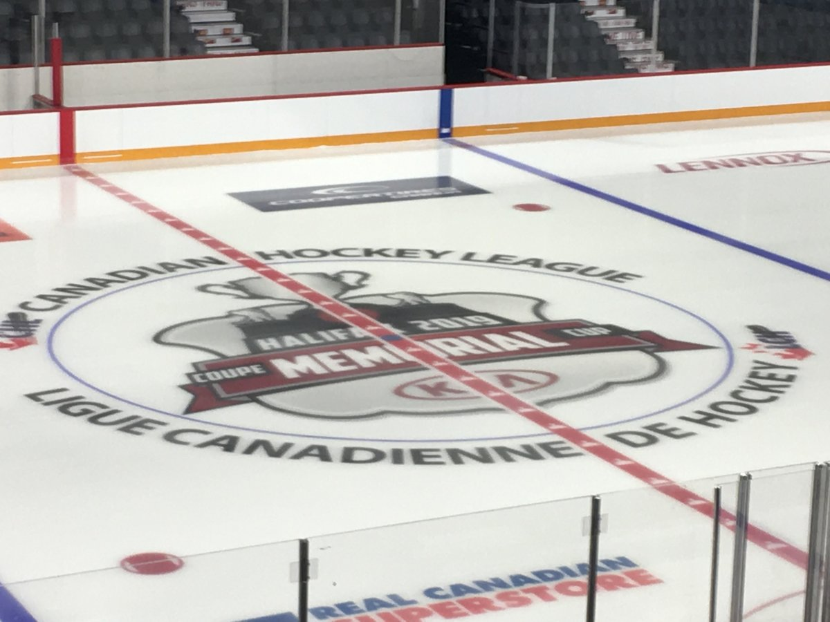 Memorial Cup centre ice.
