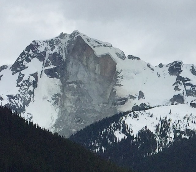 Joffre Peak has been hit by a second rockslide in a week, leaving a massive scar on its northeast face.